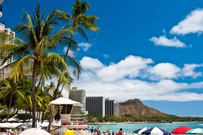 Hawaii, Waikiki Beach, and Diamond Head
